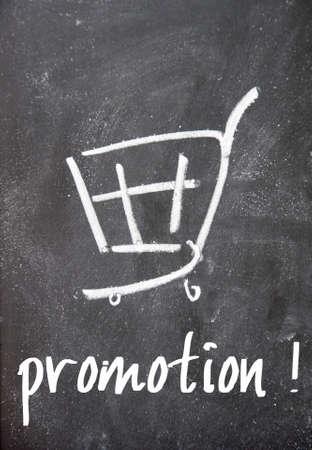 detriment: promotion sign on blackboard Stock Photo