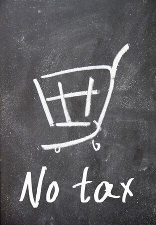 no tax text write on paper Stock Photo