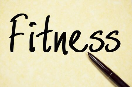 eligibility: fitness word write on paper