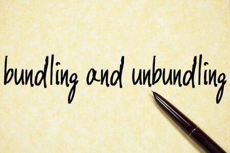 bundling: bundling and unbundling text write on whiteboard