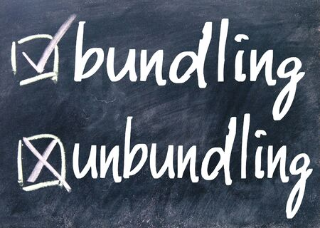 consolidation: bundling and unbundling choice on blackboard