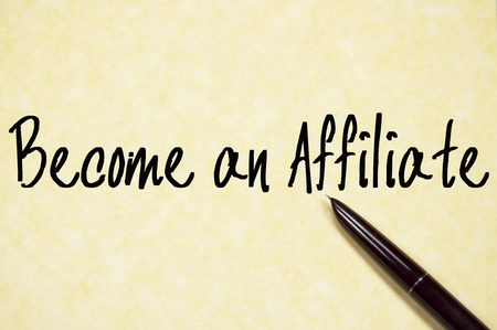 become: become an affiliate text write on paper