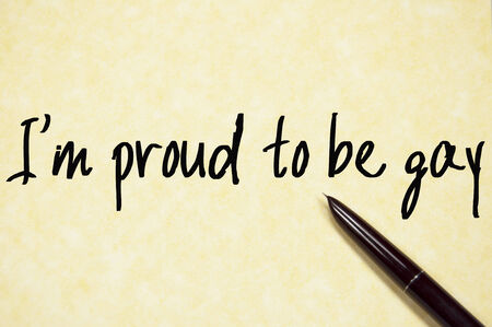 am: i am proud to be gay text write on paper