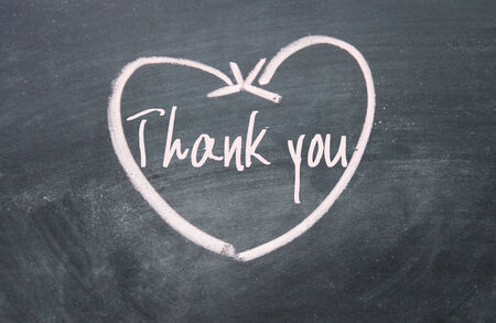 thank you sign: thank you sign on blackboard