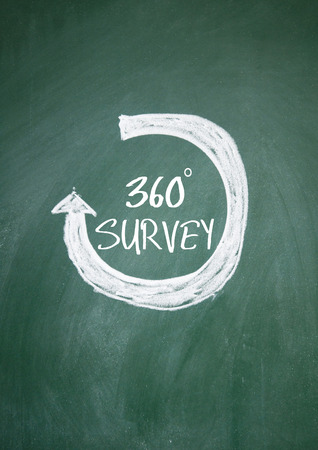 360 survey sign on blackboard photo