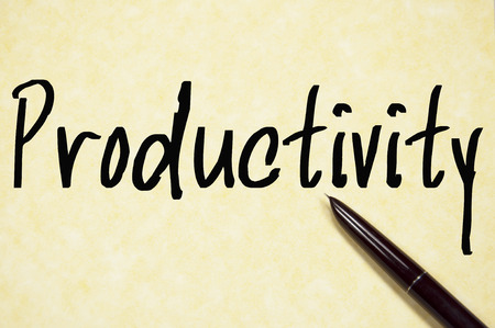 productivity word on paper Stock Photo