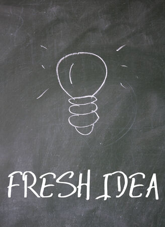 association imagine: fresh idea sign on blackboard