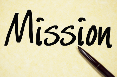 purpose: mission word write on paper