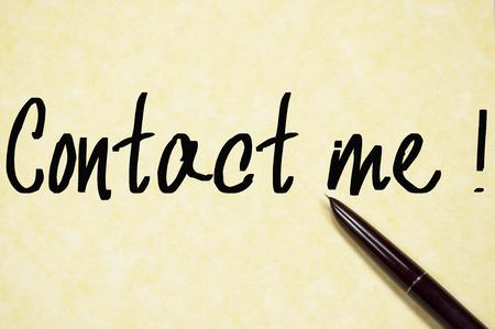 本文用紙に書き込み、私に連絡します。 写真素材