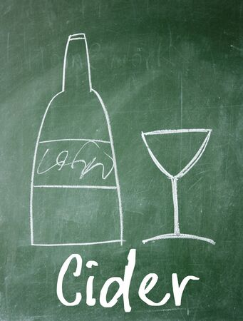 cider: cider sign on blackboard