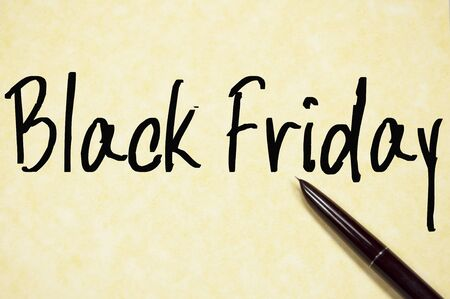 special education: black friday text write on paper