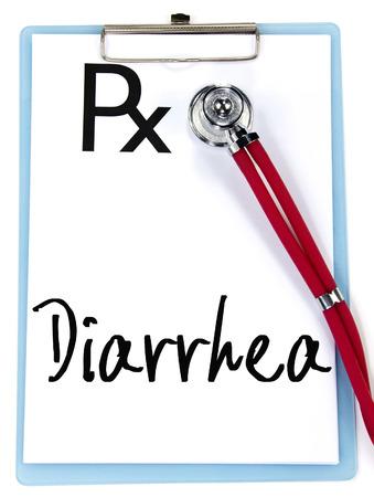 diarrea: palabra diarrea escriba en la prescripción