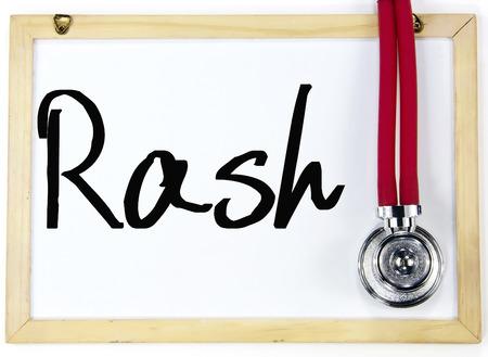 rash: Erupci�n palabra de escritura en la pizarra Foto de archivo