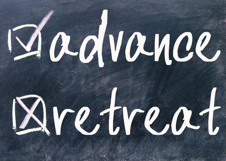 advance: retreat and advance choice on blackboard