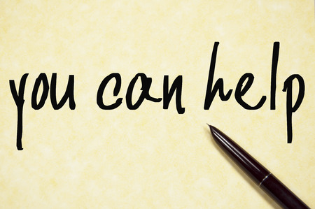yes you can: you can help  text write on paper