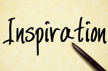 excitation: Inspiration text write on paper Stock Photo