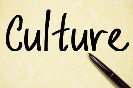 culture word write on paper photo