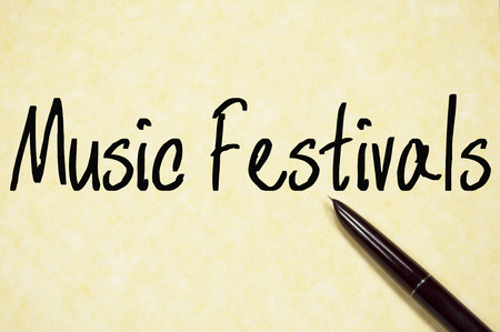 music festivals text write on paper photo