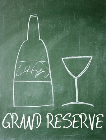 reserve: grand reserve sign on blackboard Stock Photo
