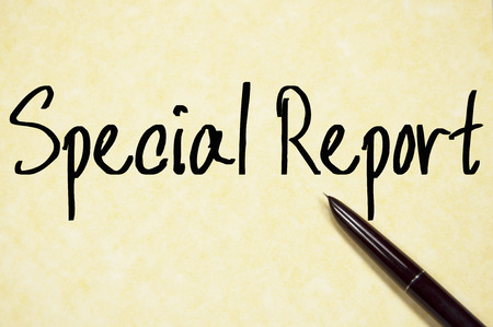 special education: special report text write on paper Stock Photo