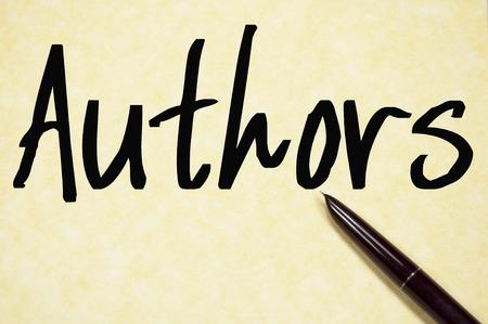 phrase novel: authors word write on paper Stock Photo