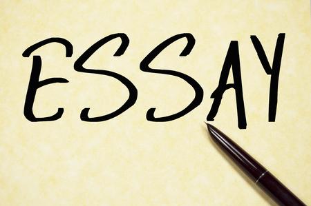 essay: essay word write on paper