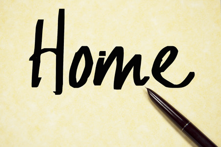 home word write on paper photo