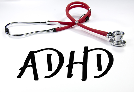 ADHD sign and stethoscope photo