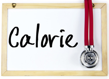 calorie word write on white board
