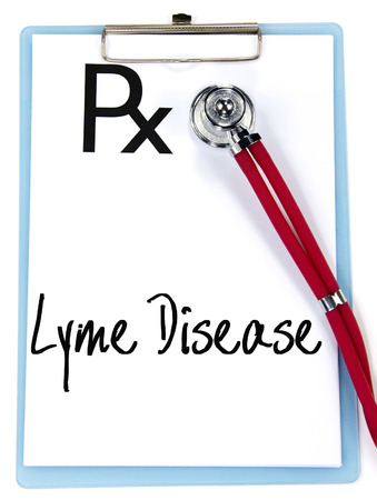 lyme: lyme disease text write on prescription