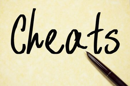 cheats word write on paper