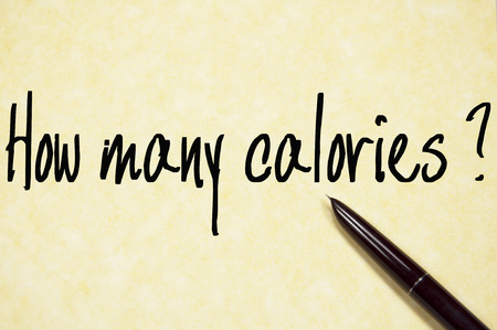 how many calories question write on paper