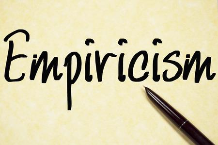 dogma: empiricism word write on paper