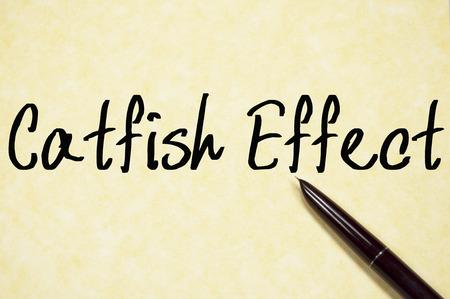 catfish: catfish effect text write on paper
