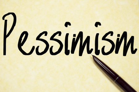 failed plan: pessimism word write on paper