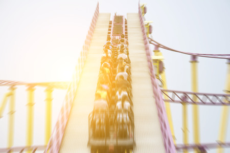 stimulate: Roller coaster Stock Photo