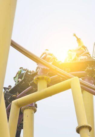 provoke: Roller coaster Stock Photo