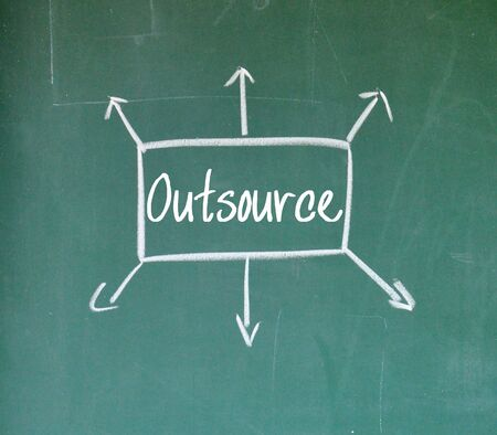 outsource: outsource sign Stock Photo