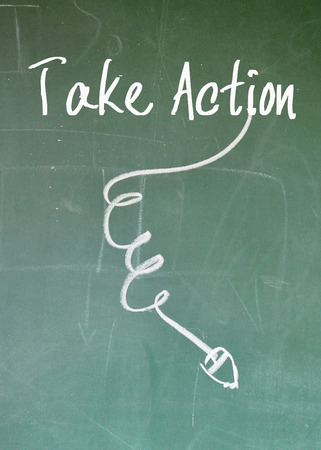 take action: take action sign Stock Photo
