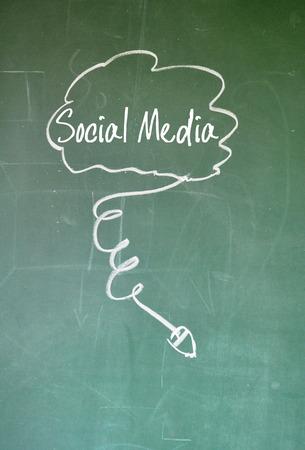sns: social media sign Stock Photo