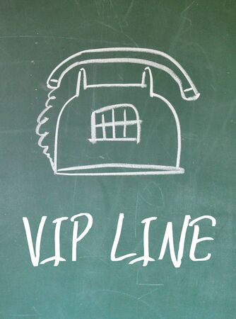 important phone call: vip line sign Stock Photo