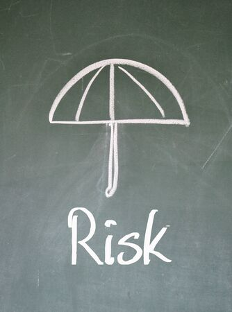 aegis: protect risk sign Stock Photo