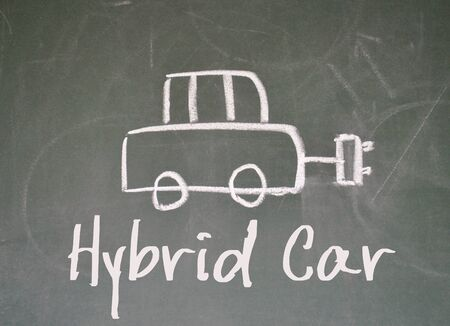 hybrid: hybrid car sign