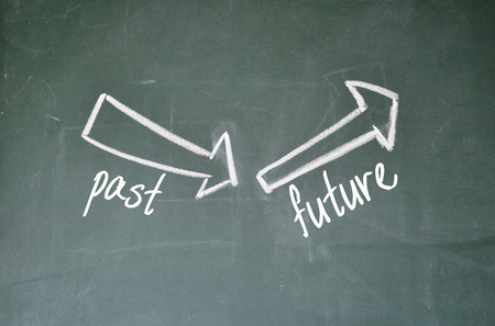 the past: past and future sign Stock Photo