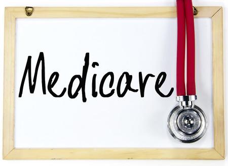medicare word write on whiteboard