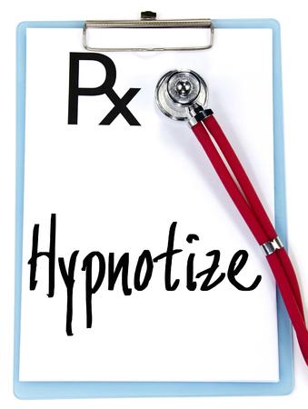 hypnotize: hypnotize word write on prescription