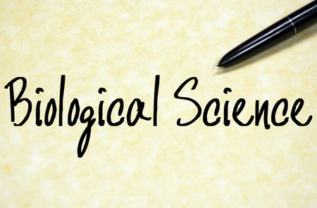 science text: biological science text write on paper