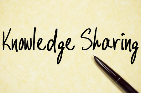 epistemology: knowledge sharing text write on paper