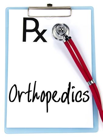 prescriptions: ortopedia palabra de escritura en las recetas Foto de archivo
