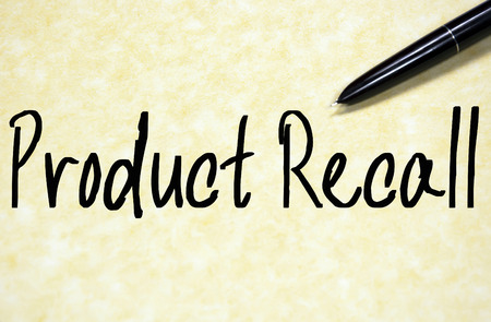 endanger: product recall text write on paper